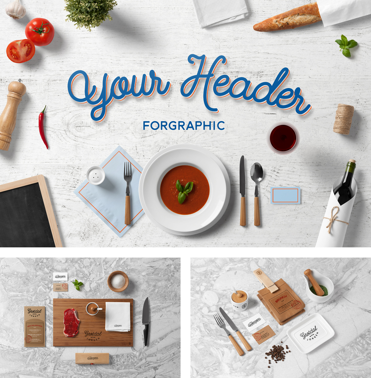 Restaurant Food Mock-Up | PSD Templates | forgraphic™